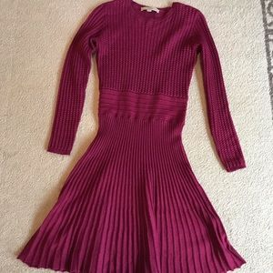 Cranberry sweater dress